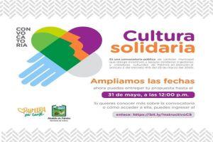 Cultura Solidaria amplió fechas para postulación de proyectos
