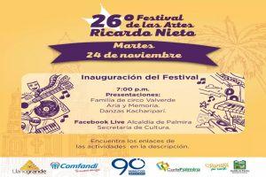 Este martes se inaugura el Festival de las Artes Ricardo Nieto