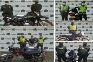 Policía recuperó cinco motocicletas que fueron hurtadas